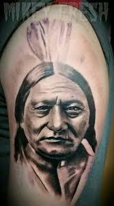 native american portrait tattoo by phil colvin tattoo tattoos