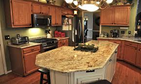 how to install a kitchen island granite countertop all style cabinets backsplash accent tile