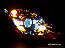 fairlady z white 06 08 nissan z33 350z fairlady z u2014 white super led headlights