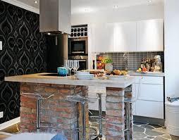 small kitchen island design 20 beautiful brick and kitchen island designs