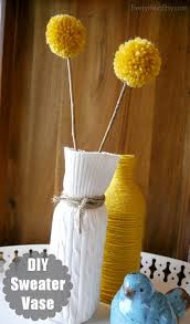 DIY Sweater Vase Easy Home Decor} EverythingEtsy