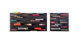 paperback wall shelf horizontal book storage by studio parade