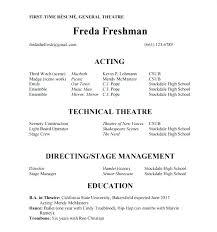 theatre resume template brilliant theatre resume exles in acting resume acting