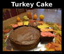 how to make a turkey cake susan u0027s homeschool blog susan u0027s