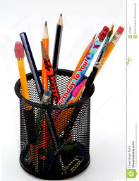 desktop pencil holder stock photography image 1378892
