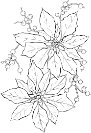 christmas flower coloring pages eson me