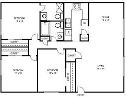Bathroom Floor Plans Floor Plan 3 Bedroom 2 Bath Home Act