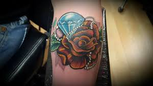 diamond tattoo neo traditional neo traditional rose diamond tattoo by mike tattoo s by mike