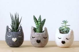 small planter animal felt planters