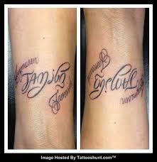 wonderful family forever ambigram tattoos tattooshunt com