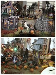 halloween village accessories halloween display platform base for dept 56 snow village lemax