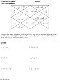 quadratic equations coloring worksheet by mrs e teaches math tpt