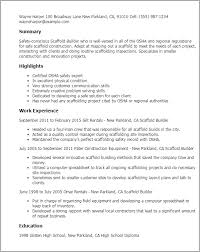 construction inspector resume professional scaffold builder templates to showcase your talent