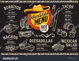 mexican menu restaurant cafe design template stock vector