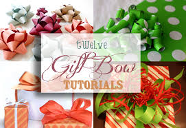 bows for gifts gift bow tutorials