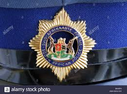 cap badge of the south african police force stock photo royalty