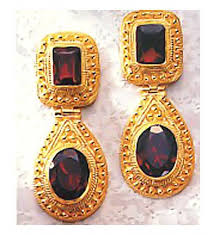 malabar earrings malabar garnet earrings museum of jewelry
