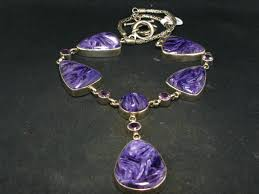 benitoite necklace charoite amethyst ss necklace from russia 17