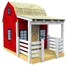Outside Playhouse Plans Small Wooden Barn Playhouse Plan Woodworking Plans Pinterest