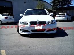 painted oe style front bumper splitter for bmw e90 lci 328i 335i