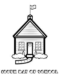 coloring page school school house 100th day of school coloring page h m coloring