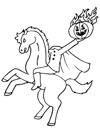 headless horseman coloring pages ghost halloween coloring