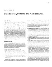 chapter 2 data sources systems and architectures guidance