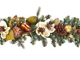 Outdoor Garland With Lights by Decorating Pre Lit Garland Lighted Wreaths For Outdoors