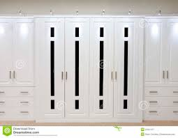 home design white fitted wardrobe doors stock image image bedroom