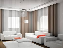 Curtains For Living Room With Brown Furniture Living Room Chic White Leather Sofa With Orange Accent Pillow And