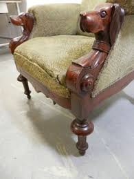 1890 u0027s hand carved dog head arm chair for the home pinterest