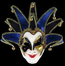 venetian jester mask jester mask blue handmade venetian mask