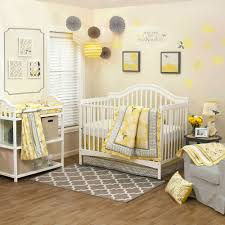 Grey And Yellow Crib Bedding Bed Nursery Quilt Cot Linen Sets Blue Nursery Bedding Childrens