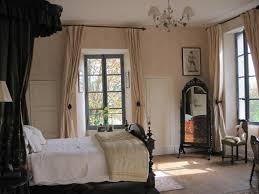 curtain over bed bedroom elegant beige and black bedroom decoration using cream peach