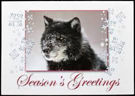wolf seasons greetings blank card defenders of wildlife