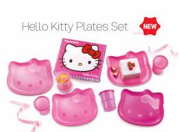 kitty plates tupperware