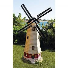 garden ornament solar light windmill design 33x68 5cm hardware