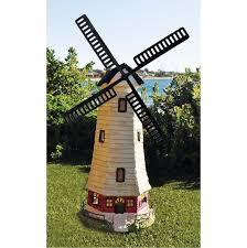 garden ornament solar light windmill design 33x68 5cm hardware