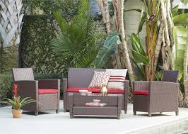Deep Seating Wicker Patio Furniture - cosco outdoor products cosco outdoor living 4 piece malmo resin