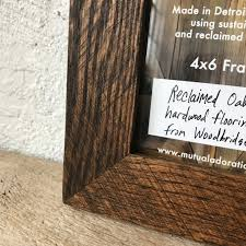 4x6 picture frame reclaimed wood frame small 4 x 6 photo frame