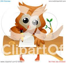 homework design studio royalty free rf clipart illustration of a cute owl doing homework