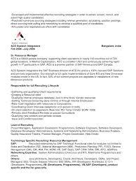sample recruitment manager resume