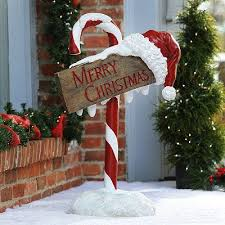Candy Cane Outdoor Decorations Candy Cane Standees Outdoor Christmas Decorations Shindigz