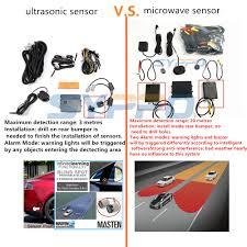 Car Blind Spot Detection Microwave Radar Blind Spot Detection System Safety Warning Sensor