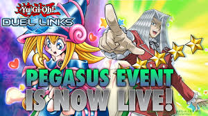 pegasus toon world event is back yu gi oh duel links w