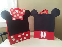 make your own mickey and minnie mouse trick or treat bags