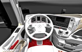 mercedes truck white mercedes actros mp4 2014 white biege red interior 1 27x mod
