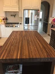 wood countertop butcherblock walnut solid edge grain made by texas