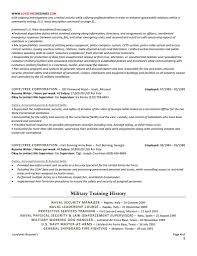 Physical Security Specialist Resume Classic Executive Professional Resume With Cover Letter