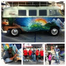 volkswagen bus beach case study paint a vintage 1965 vw bus for verizon fios at vans